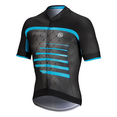PLAYERA BICYCLE PRO BLACK BLUE