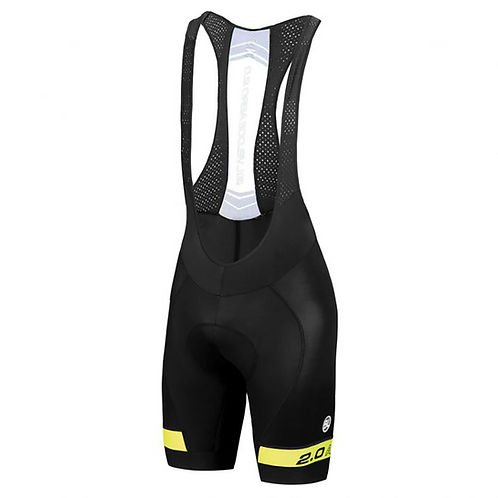 BIB SHORT BYCICLE AERO 2.0 YELLOW