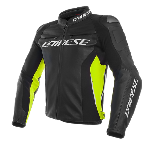 CHAMARRA DAINESE RACING 3 LEATHER YELLOW