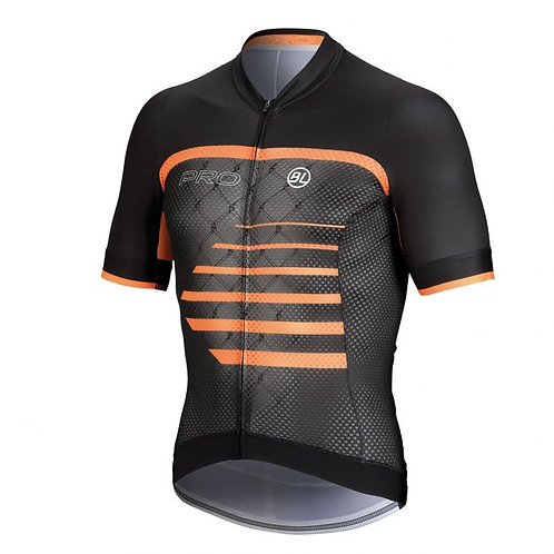 PLAYERA BICYCLE PRO BLACK ORANGE
