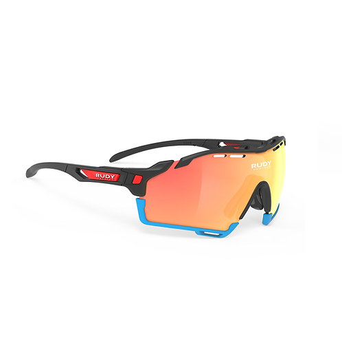 LENTE RUDY CUTLINE RACING BLACK MULTI LASER ORANGE