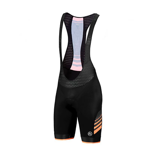 BIB SHORT BICYCLE PRO ORANGE