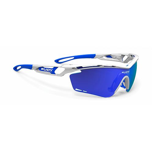 LENTE RUDY TRALYX WHITE GLOSS MULTILASER BLUE