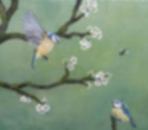 pimpelmeesjes en bloesem, kunst