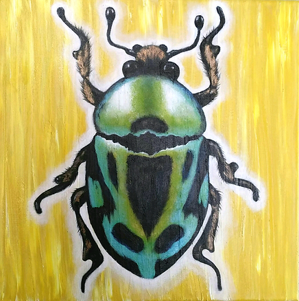 Beetle acryl art by Cicilia Postma