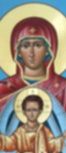 Icon of Platytera Mother of God