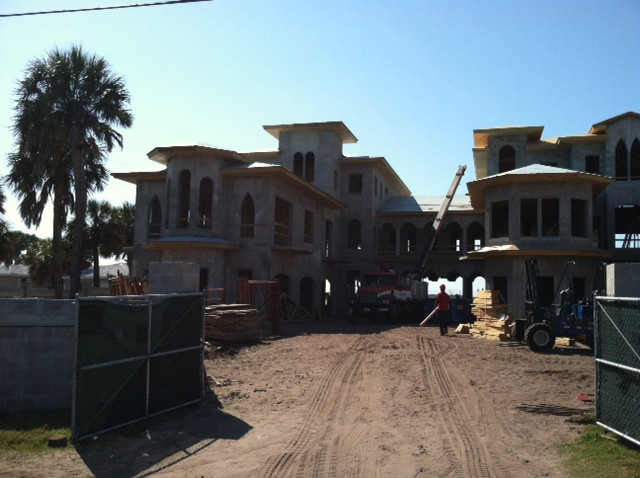 South end of Ryan Howard's Bellaire Beach House block construction