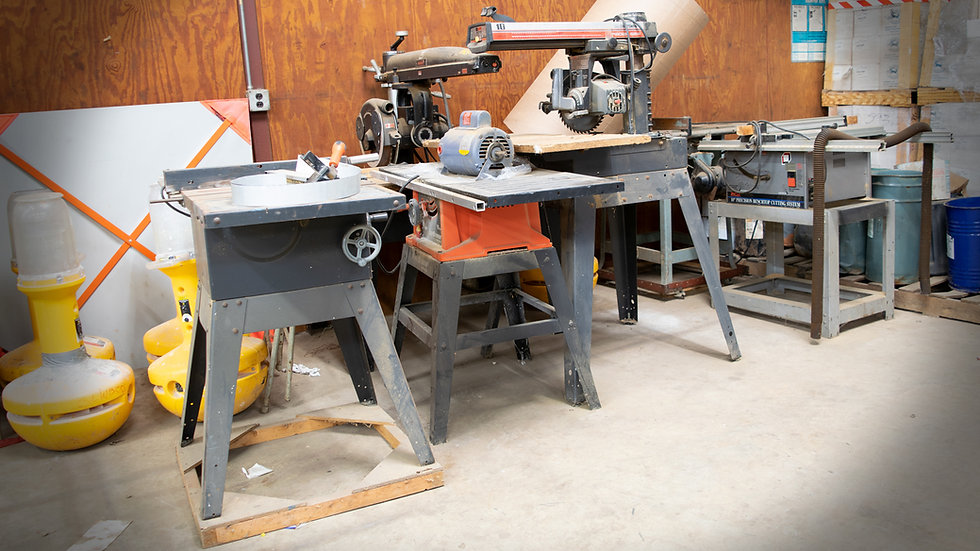 Assorted Table & Radial Saws (Sold as one Unit)