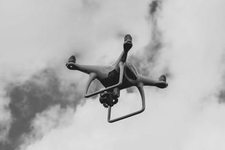 Phantom 4 drone taking to the skies.