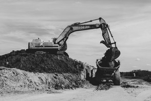 Moving soil with Heavy Equipment