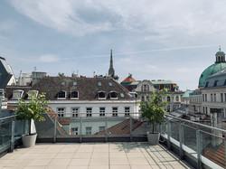 große Dachterrasse