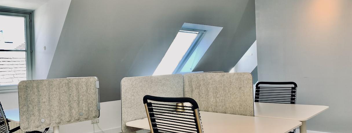 Bürobereich, Open Office, Richtung Loungebereich