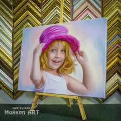 Портрет на холсте в стиле  Пастель