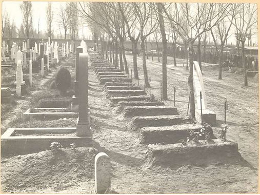 Historical photography Budapest Jewish Cemetery