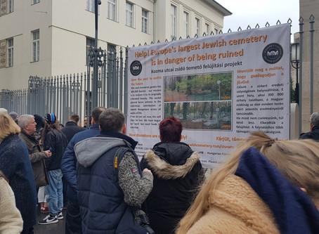 A Dohány utcai zsinagógán is kint van a plakátunk!