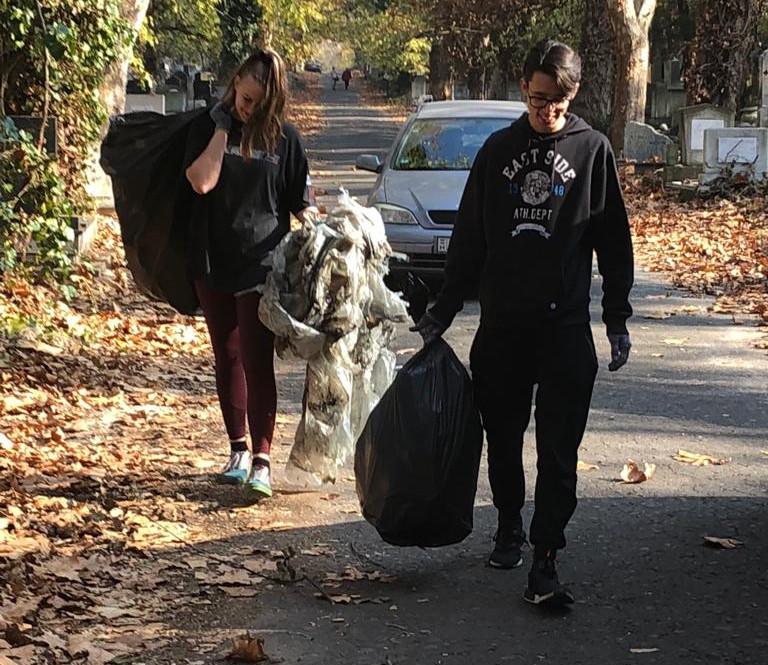 Bags of garbage