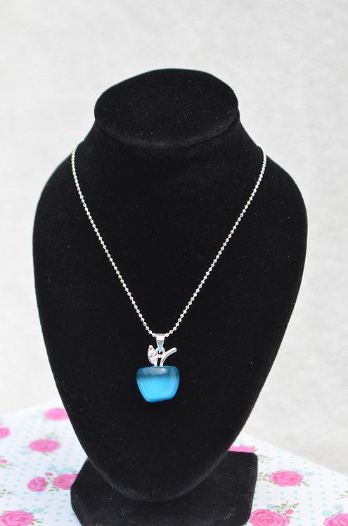 Apple Necklace Blue