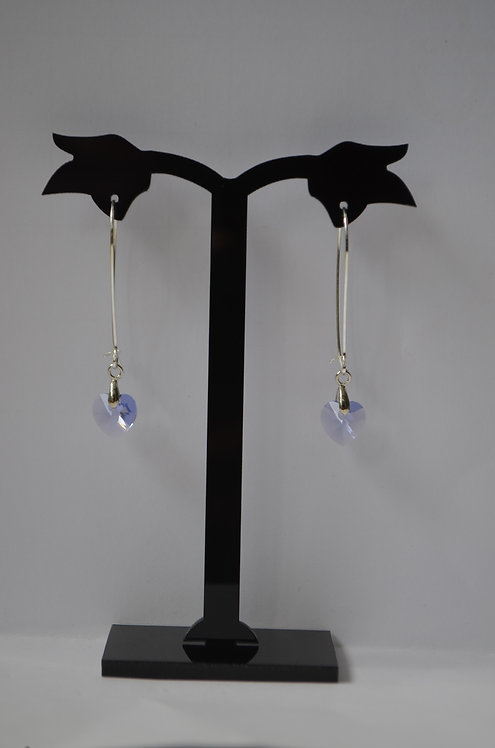 SW33 Provence Lavender Heart earrings,10mm