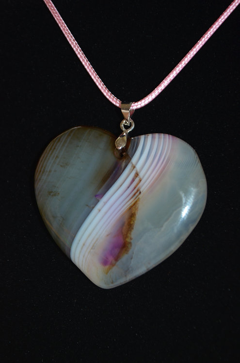 Agate Heart Necklace AG106