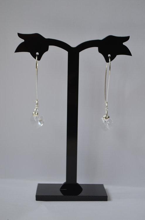 Crystal Swarovski Crystal Heart earrings,10mm