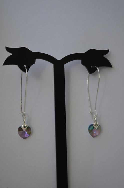Paradise Shine Swarovski Heart earrings,10mm