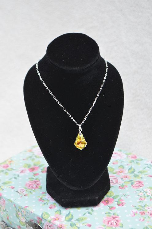 SW54 Crystal AB Baroque Drop