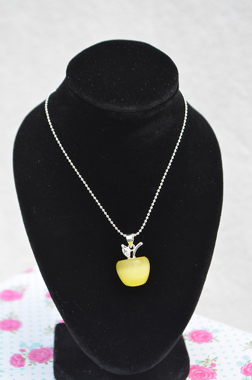 Apple Necklace Yellow