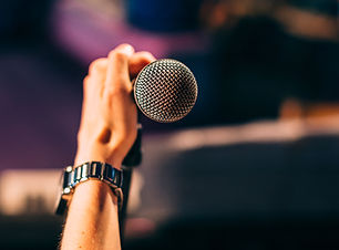 Holding a Microphone