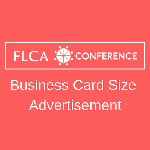 Business Card Size Advertisement