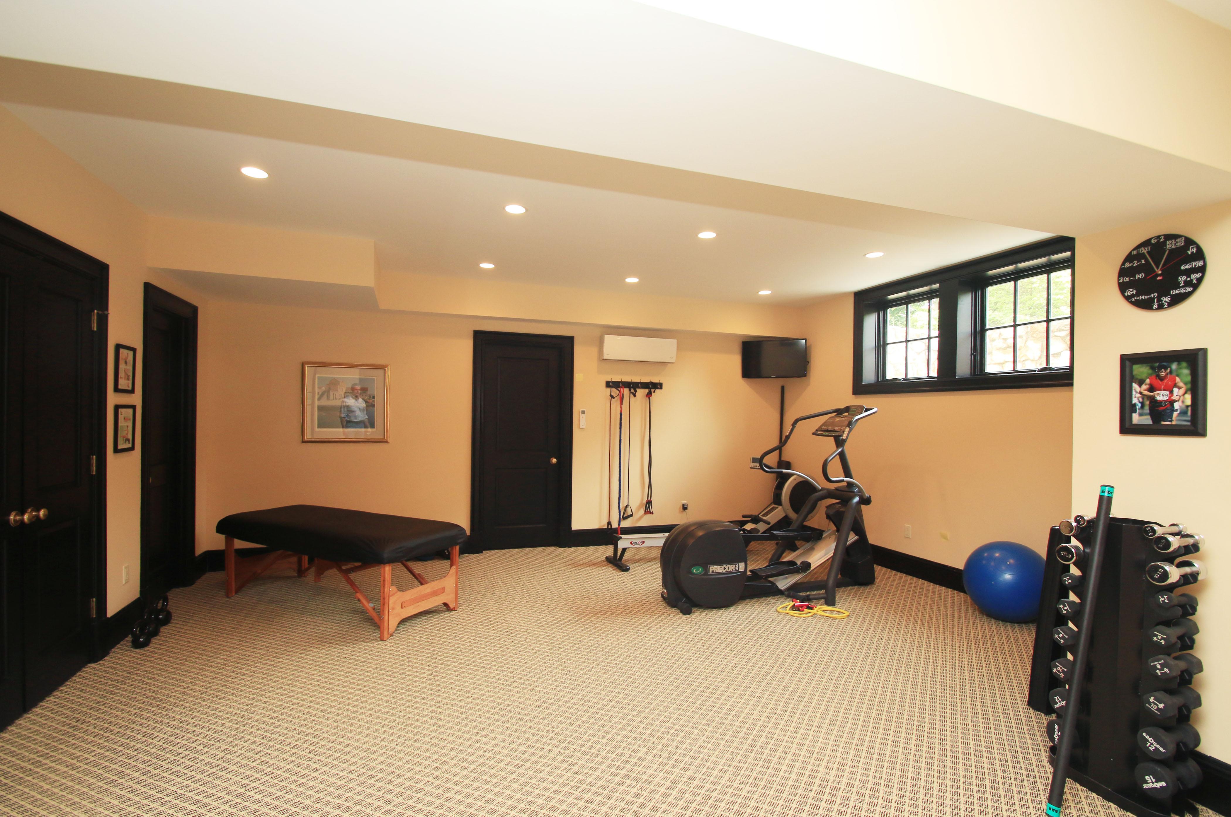 Lower level/gym