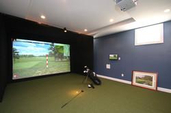 Lower level/golf simulator