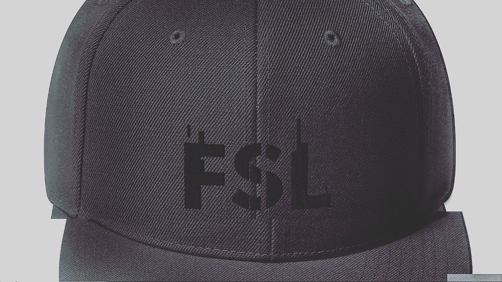 Snapback Hat (FSL BLK ON BLK)