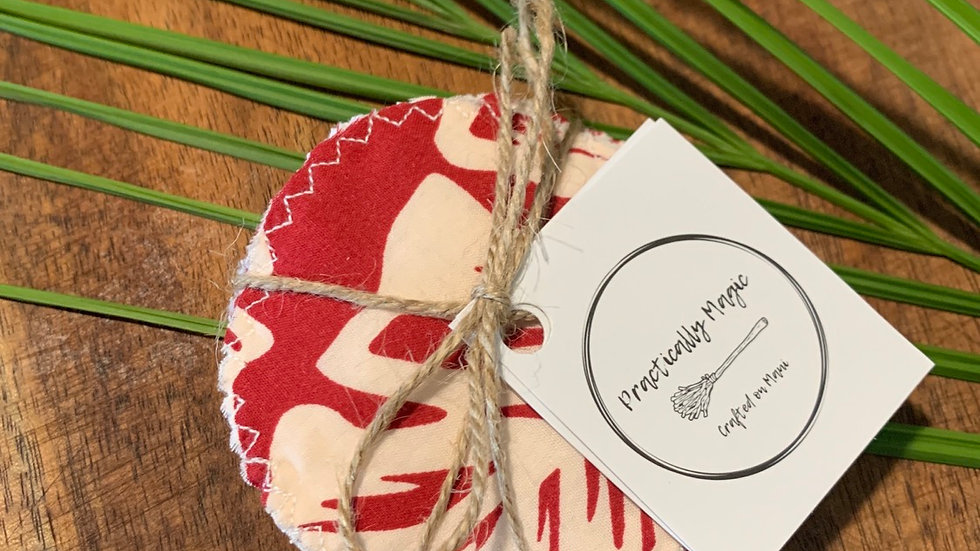 Washable Cotton Rounds - Red Banana