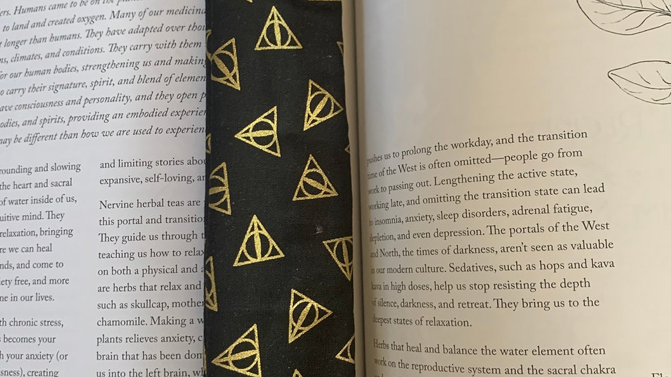 Recycled Material Bookmark - Deathly Hallows