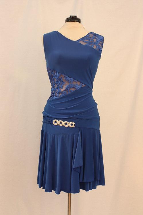 Royal Blue Top and Skirt