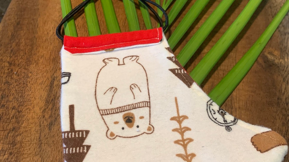 Cloth Face Mask in Bears & Cacao
