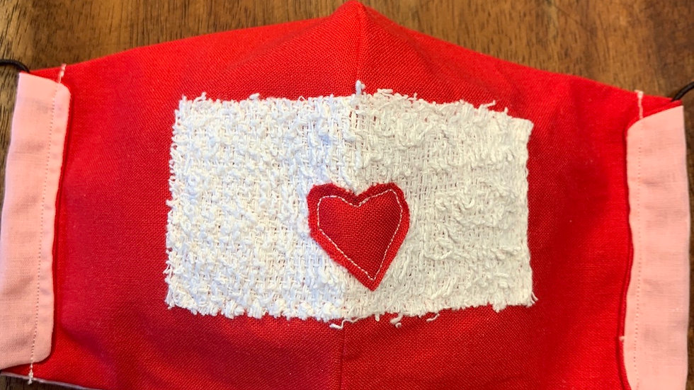Cloth Face Mask in Love Letter