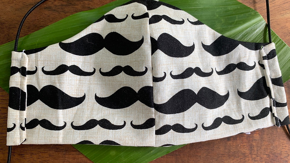 Cloth Face Masks in Mustache