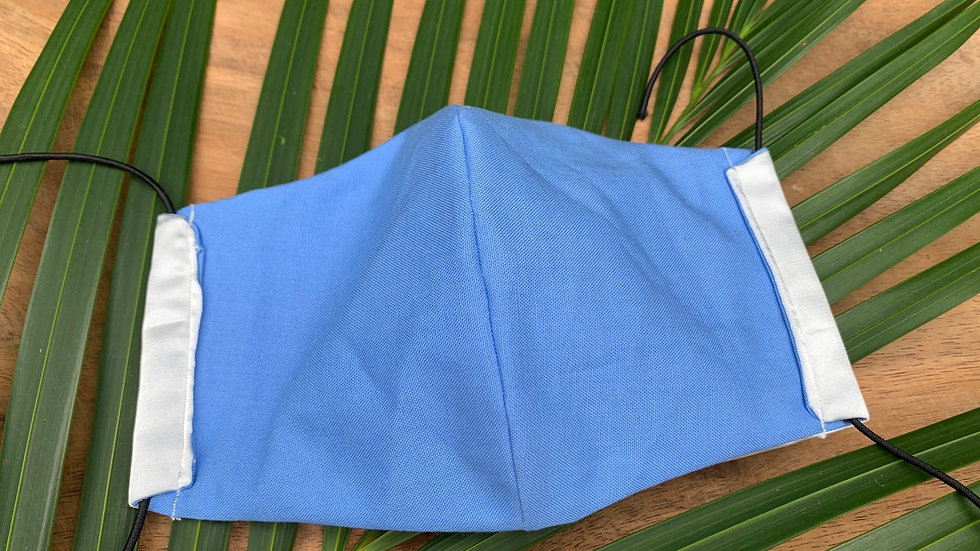 Silk Lined - Cloth Face Mask in Blue