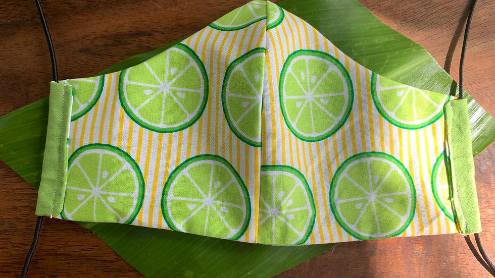 Cloth Face Mask in Lime