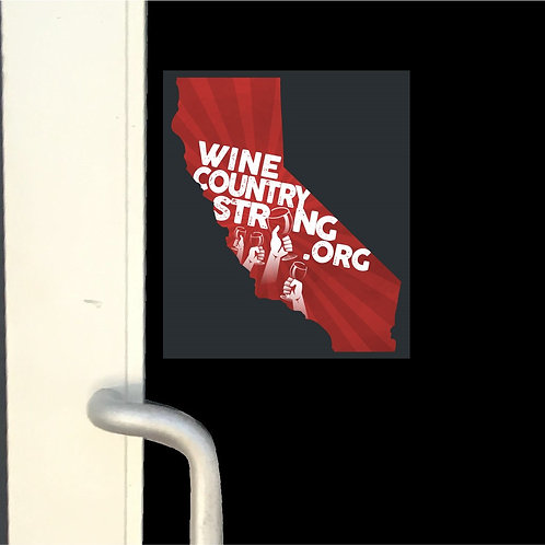 Wine Country Strong Window Cling- CA