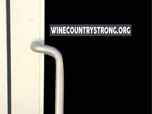 Wine Country Strong Window Cling- Strip