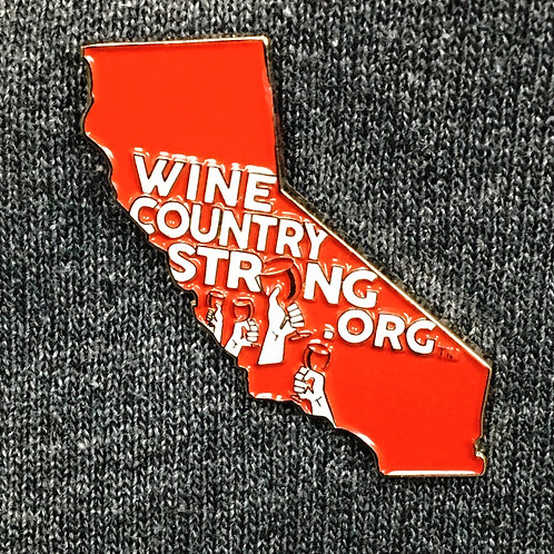 Wine Country Strong Lapel Pin