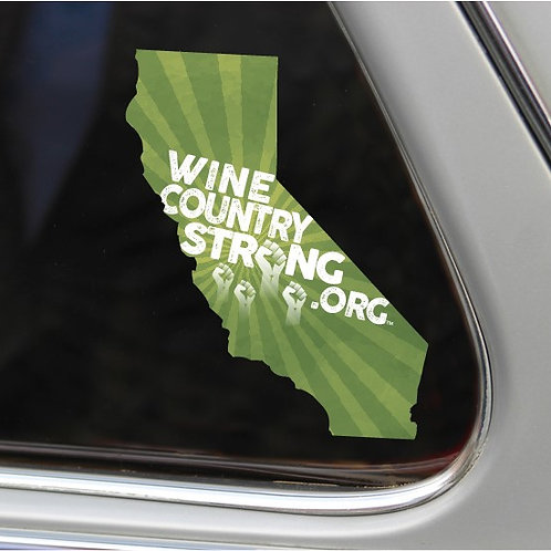 Wine Country Strong Window Decal- Sonoma County Sheriff's Edition