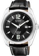 Citizen  Watch Band Black Leather 22MM  Part # 59-S51837