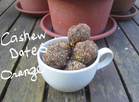 Date, Cashew, Orange No-Bake Energy Balls