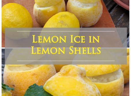 Lemon Ice in Lemon Shells
