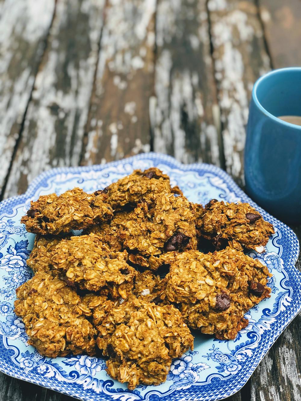 Healthy pumpkin oatmeal cookie