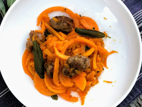 Spiralized Butternut Squash with Fried Sage