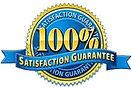 100 percent satisfaction guarantee seal